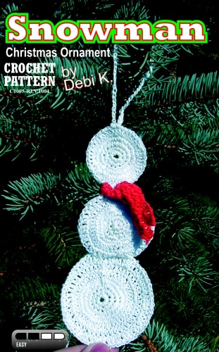 Snowman Ornament Crochet Pattern