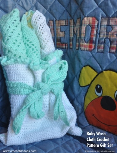 Baby Wash Cloth Gift Set Crochet Patterns
