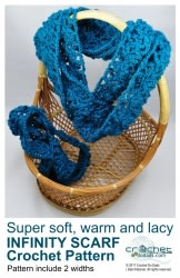 Warm Soft & Lacy Infinity Scarf Set Pattern