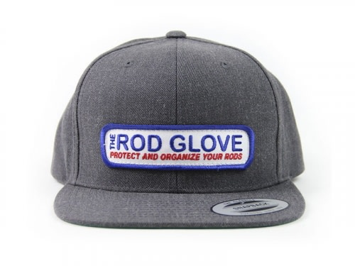 Rod Glove Branded Flat Brim, Snap Back Hat