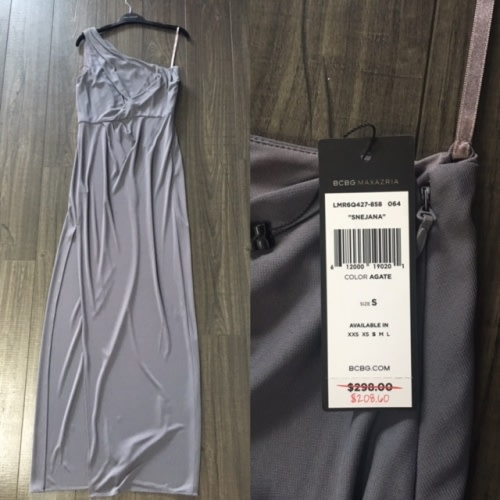 Fossil Grey Gown BCBG