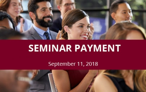 Seminar | HALF DAY - September 11, 2018