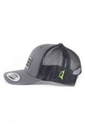 X Zone Stealth Trucker Hat - Char Black