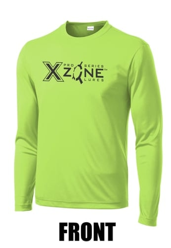 X Zone High Performance Long Sleeve T-Shirt Lime Shock