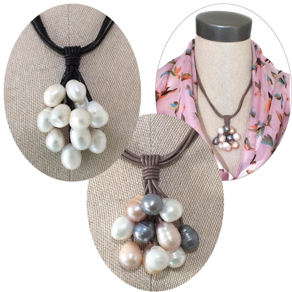 Pearl and Leather Necklaces