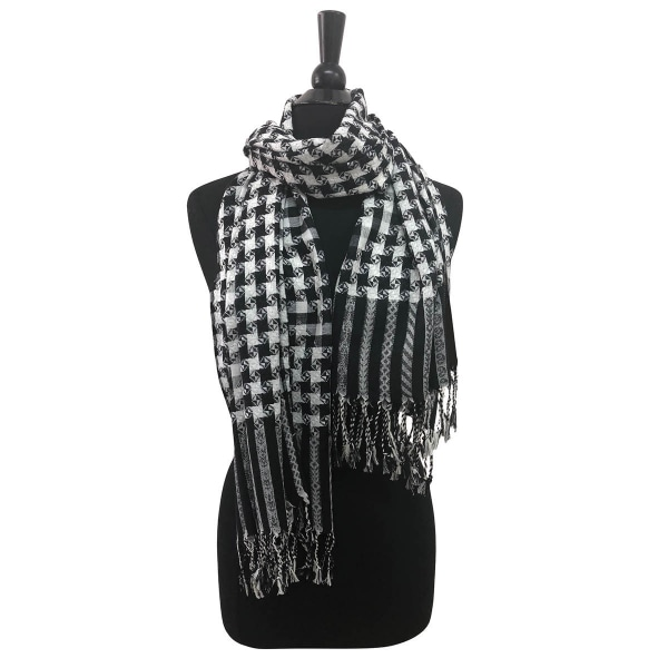 Black and White All Over Shawl