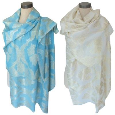 Metallic Thread Shawls