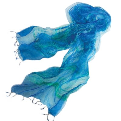Diaphanous Floating Thread Scarf