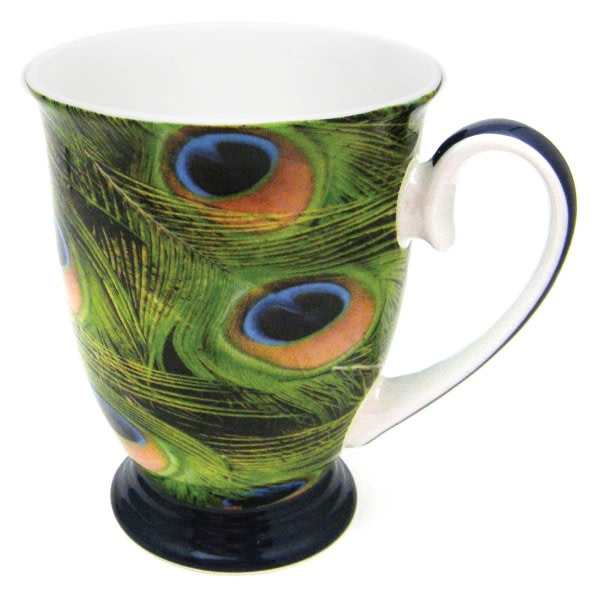 Peacock Bone China Mug