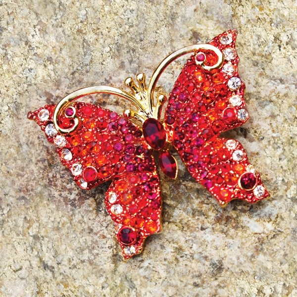 Tiffany-Inspired Butterfly Brooch