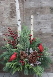 Deluxe Outdoor Winter Arrangement Workshop Round