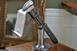 Martin - Salvaged Metal Tablet Holder/Sculpture - SOLD