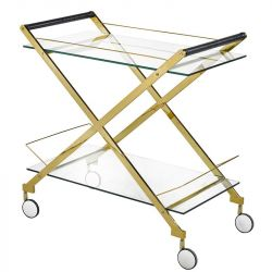 Bermuda Bar Cart Gold